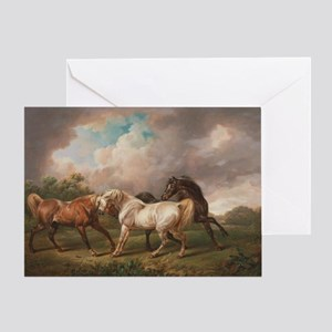The Meeting of the Horses Greeting Card