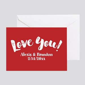 PERSONALIZED Love You Greeting Cards