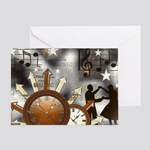 Vintage Music Notes Greeting Card