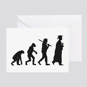 Graduation Evolution Greeting Cards