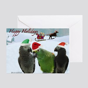 Cute Pet / Happy Holidays Greeting Cards