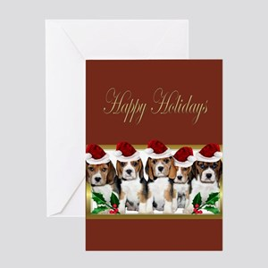 Holiday Beagles Greeting Cards