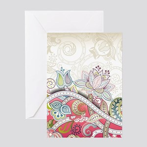 Abstract Floral Greeting Cards