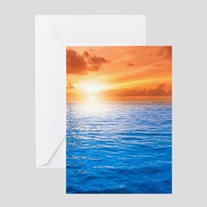 Ocean Sunset Greeting Cards