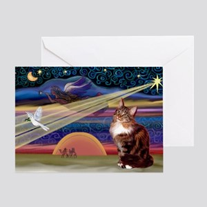 XMas Star / Maine Coon Greeting Card