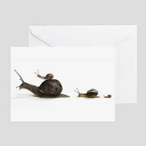 Snail Family Greeting Card