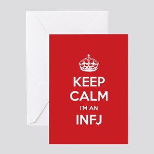 Keep Calm Im An INFJ Greeting Cards