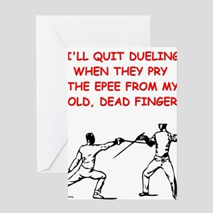 FENCING2 Greeting Cards