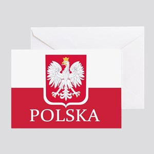 Polska Polish Flag Greeting Cards