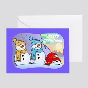 Star Trek Snowmen Greeting Cards