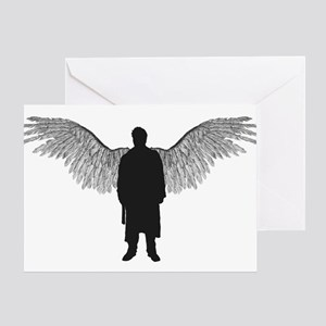 Winged Castiel Greeting Cards