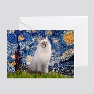 Starry Night Ragdoll Greeting Card