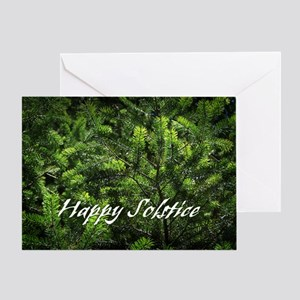 Evergreen Solstice Greeting Card