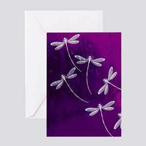Dragonflies on water Greeting Cards
