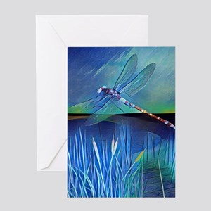 Dragonfly Pond Greeting Cards