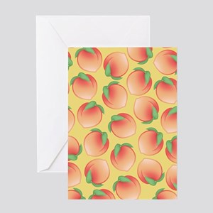 Cute Peach Pattern Greeting Cards