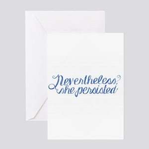 She Persisted Greeting Cards