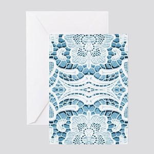 girly hipster blue lace beach Greeting Cards