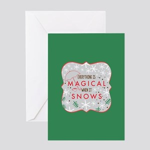Magical When It Snows FB Greeting Cards