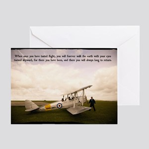 Tiger Moth Getting ready to fly Greeting Card
