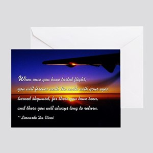 flyingDaVinci Greeting Card