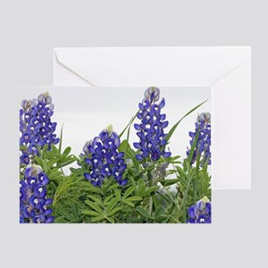 Texas bluebonnet serving tray Greeting Card