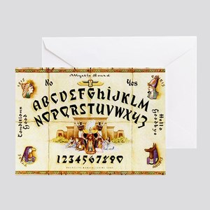 Vintage Egyptian Ouija Board Greeting Card