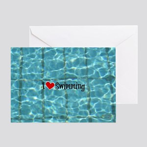 I Love Swimming  Greeting Card