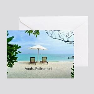 Aaah...Retirement, tropical beach sc Greeting Card
