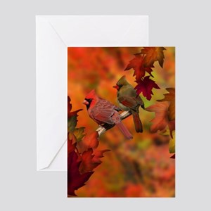 Cardinal Refuge Greeting Cards