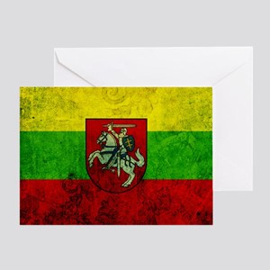 Lithuania Flag Greeting Card