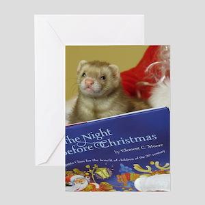 Christmas Ferret.Ferret Christmas Greeting Cards Cafepress