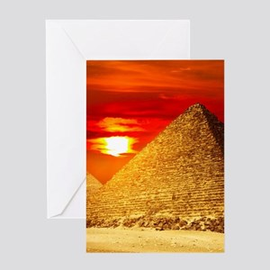 c717898638f0a Egyptian Pyramids At Sunset Greeting Cards