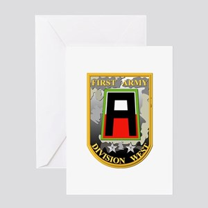 SSI - First Army Division West Greeting Card