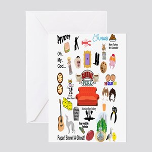 Friends TV Quote Collage Greeting Cards