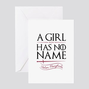 A Girl Has No Name Greeting Card