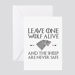 Leave One Wolf Alive Greeting Card