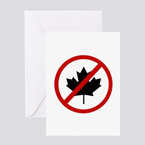 Anti Canadians Greeting Card