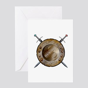 Shield and swords Greeting Card