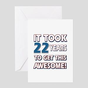 22 Year Old Birthday Gift Ideas Greeting Card