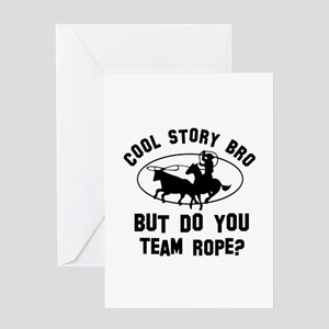 Team Rope designs Greeting Card