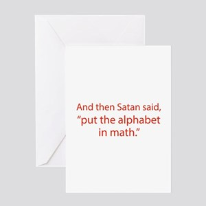 Put The Alphabet In Math Greeting Card