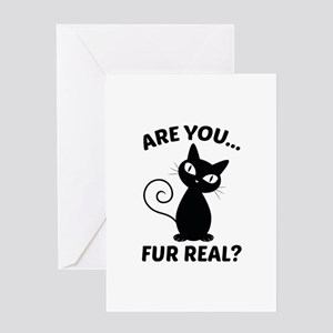 Cat Pun Greeting Cards - CafePress
