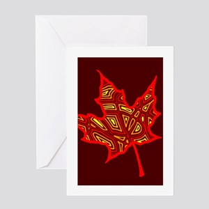 Fire Leaf Greeting Card