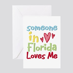 Someone in Florida Loves Me Greeting Card