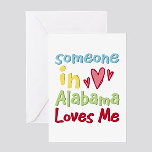 Someone in Alabama Loves Me Greeting Card