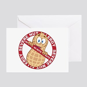 Severe Nut Allergy Greeting Card