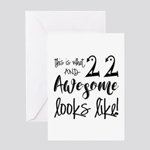 Awesome 22 Year Old Greeting Card