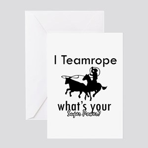 I Teamrope Greeting Card