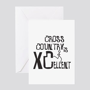 XC Cross Country Greeting Cards